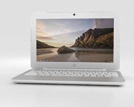 HP Chromebook 11 G3 Snow White 3Dモデル