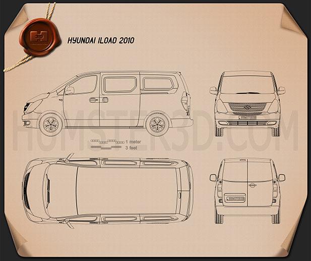 Hyundai H1 iLoad 2010 Blueprint