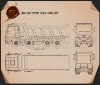 MAN TGS Tipper Truck 2012 Blueprint