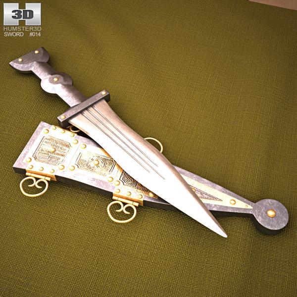 Pugio 3D model