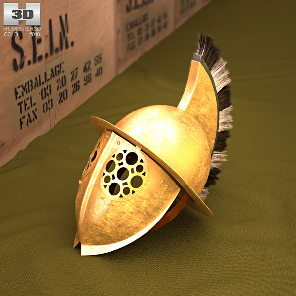 3D model of Thracian Gladiator Helmet