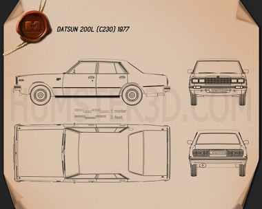 Datsun 200L 1977 Blueprint