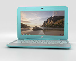 3D model of HP Chromebook 11 G3 Ocean Turquoise