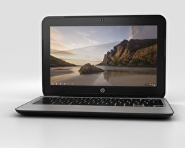 HP Chromebook 11 G3 Twinkle Black 3D model