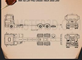 MAN TGS Chassis Truck 2012 Blueprint