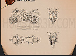 Yamaha YZF-R6 2014 Blueprint