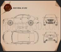 Buick Regal GS 2012 Blueprint