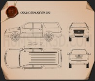 Cadillac Escalade ESV 2011 Blueprint