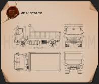 DAF LF Tipper 2011 Blueprint