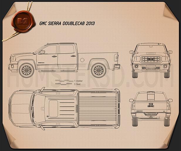 GMC Sierra Double Cab 2013 Blueprint