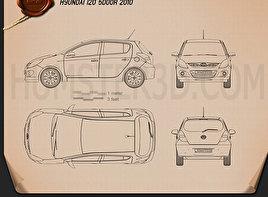 Hyundai i20 5-door 2010 Blueprint