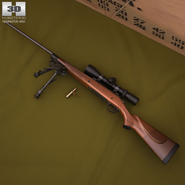 3D model of Remington Model 700