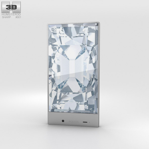3D model of Sharp Aquos Crystal White