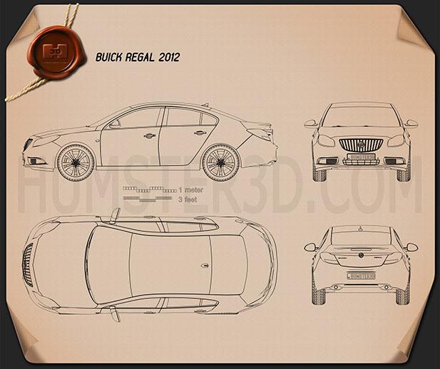 Buick Regal 2012 Blueprint
