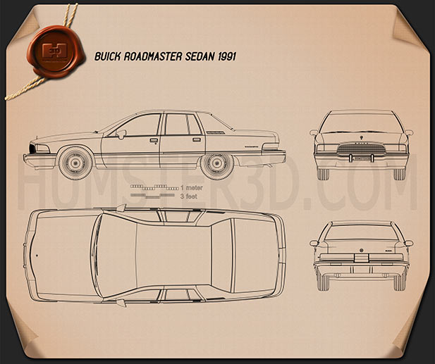 Buick Roadmaster sedan 1991 Blueprint