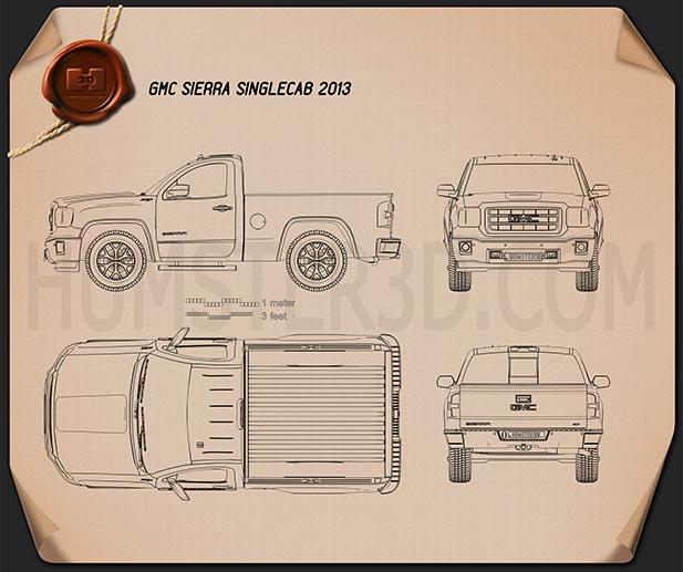 GMC Sierra Single Cab 2013 Blueprint
