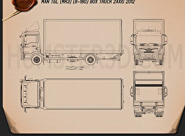 MAN TGL Box Truck 2012 Blueprint