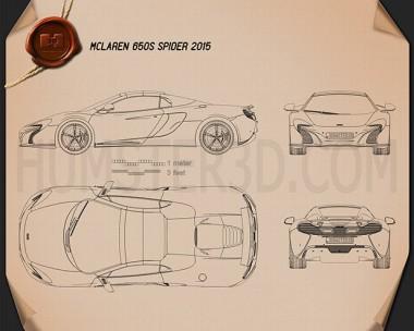 McLaren 650S Spider 2015 Blueprint