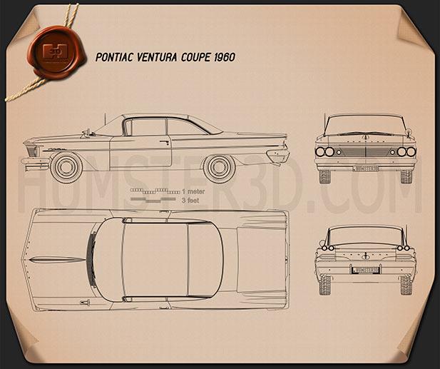 Pontiac Ventura coupe 1960 Blueprint