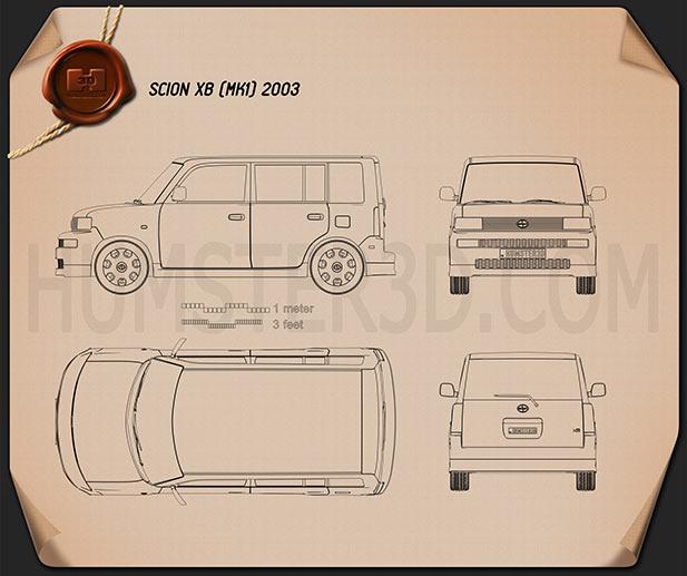 Scion xB 2003 Blueprint