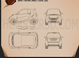 Smart Fortwo coupe 2012 Blueprint