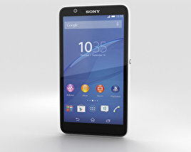 3D model of Sony Xperia E4 White