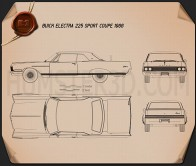Buick Electra 225 Sport Coupe 1966 Blueprint