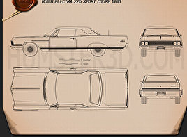 Buick Electra 225 Sport Coupe 1966 Blueprint