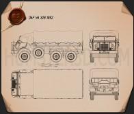 DAF YA 328 1952 Blueprint