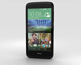3D model of HTC Desire 526G+ Lacquer Black