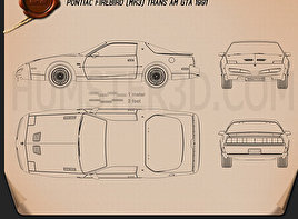 Pontiac Firebird Trans Am GTA 1991 Blueprint