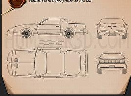 Pontiac Firebird Trans Am GTA 1991 Blueprint