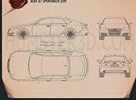Audi A7 Sportback 2011 Blueprint