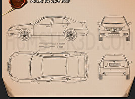 Cadillac BLS sedan 2009 Blueprint