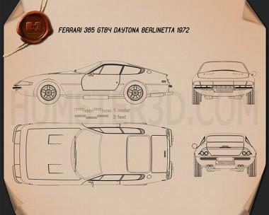 Ferrari 365 Daytona GTB/4 1968-1973 Blueprint