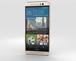 3D model of HTC One (M9) Silver/Rose Gold