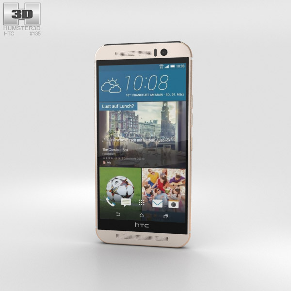 HTC One (M9) Silver/Rose Gold 3D model