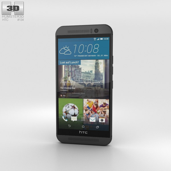 HTC One (M9) Gunmetal Gray 3D model