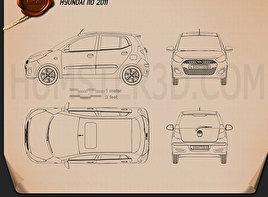 Hyundai i10 2011 Blueprint