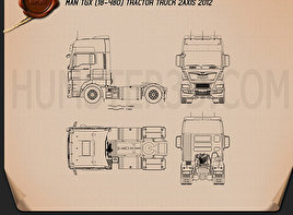 MAN TGX Tractor Truck 2012 Blueprint