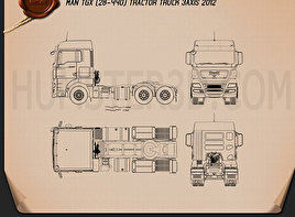 MAN TGX Tractor 2012 Blueprint