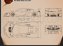McLaren 650S GT3 2015 Blueprint