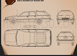 Buick Roadmaster wagon 1991 Blueprint