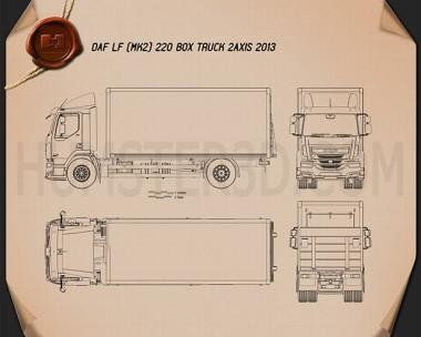 DAF LF Box Truck 2013 Blueprint
