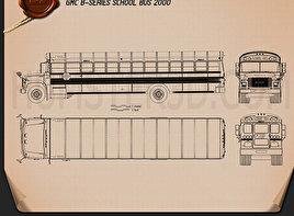 GMC B-Series School Bus 2000 Blueprint