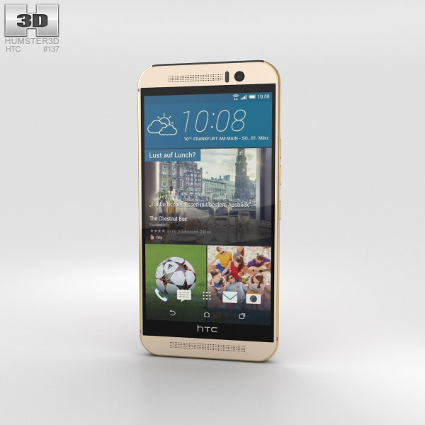 HTC One (M9) Gold/Pink 3D model
