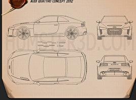 Audi Quattro Concept 2012 Blueprint