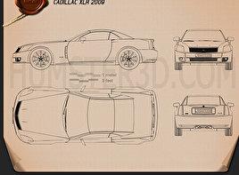 Cadillac XLR 2009 Blueprint