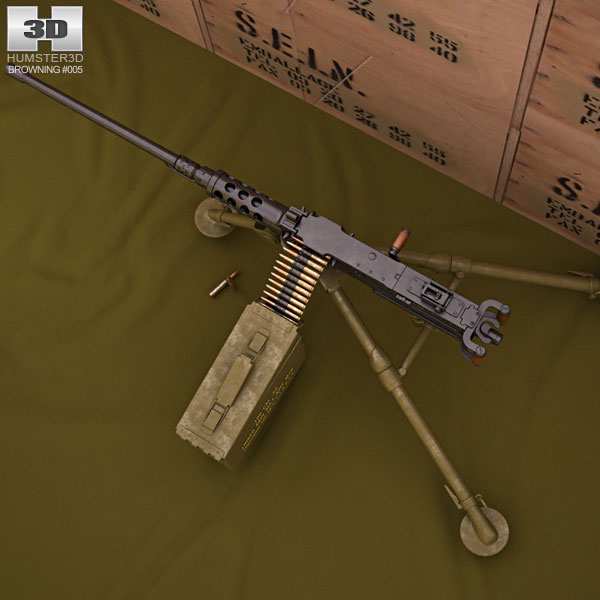 3D model of Browning M2
