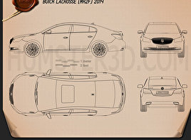 Buick LaCrosse (Allure) 2014 Blueprint